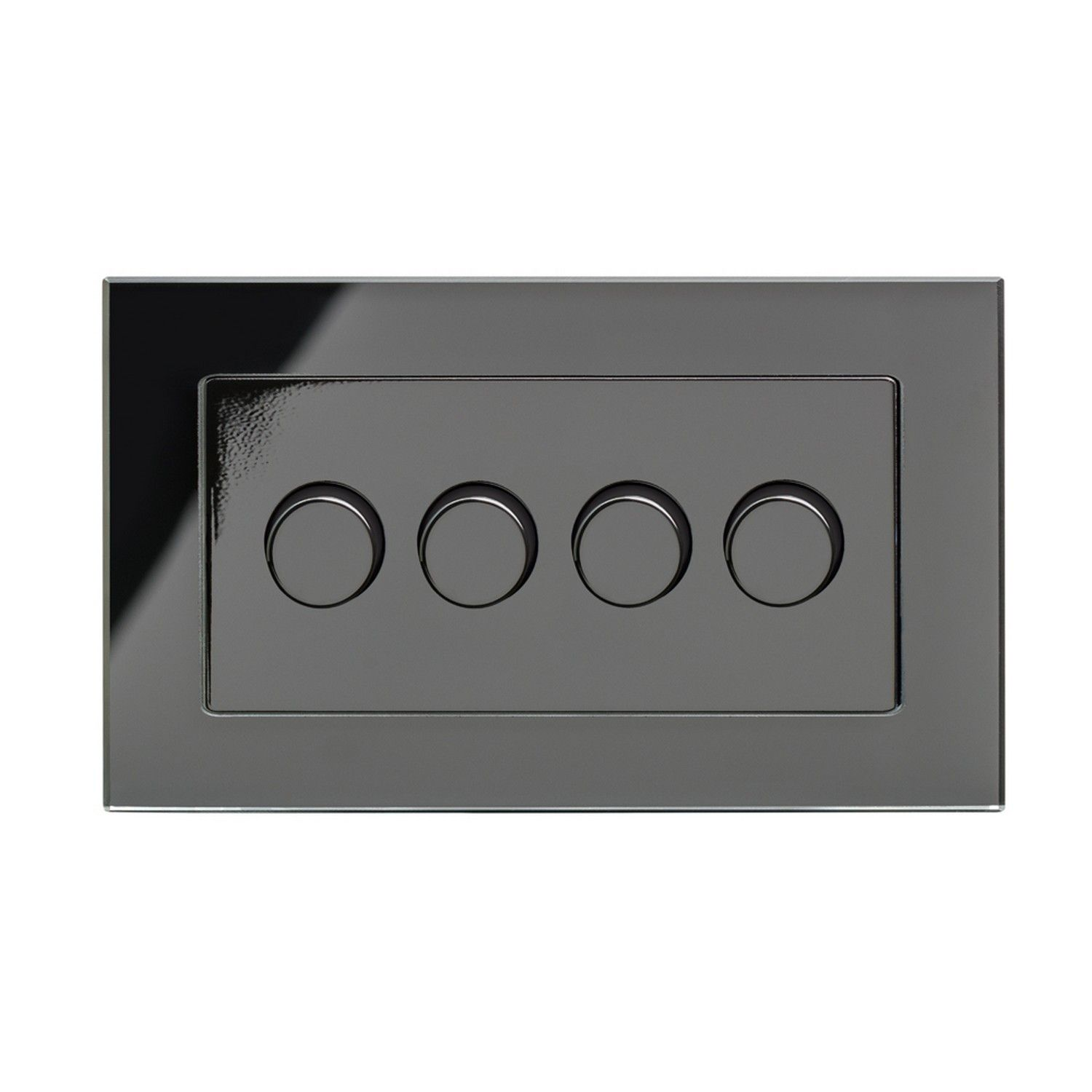 retrotouch 4 gang 2 way dimmer switch 3 200w led halogen black gl pg 02103